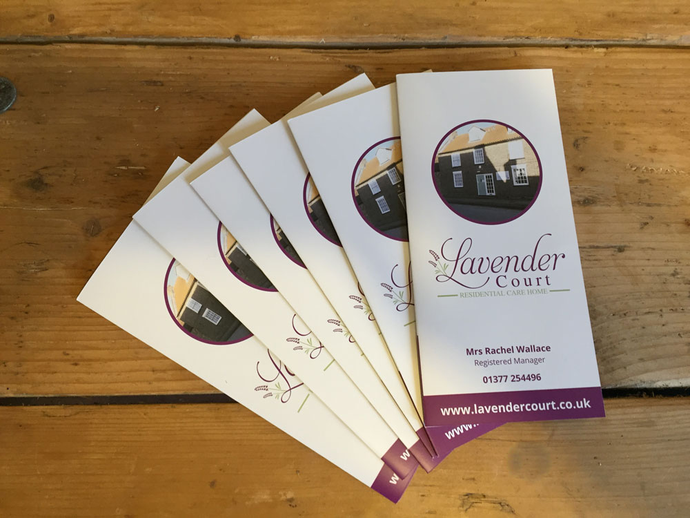 Lavender Court A4 Folded Brochure